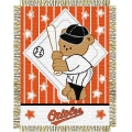 "Baltimore Orioles MLB Baby 36""x 46"" Triple Woven Jacquard Throw"
