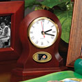 Philadelphia Flyers NHL Brown Desk Clock