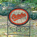 Baltimore Orioles MLB Stained Glass Outdoor Yard Sign
