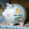 Oakland Athletics MLB Ceramic Piggy Bank