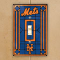 New York Mets MLB Art Glass Single Light Switch Plate Cover
