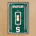 Michigan State Spartans NCAA College Art Glass Single Light Switch Plate Cover