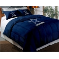 "Dallas Cowboys NFL Twin Chenille Embroidered Comforter Set with 2 Shams 64"" x 86"""