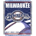 "Milwaukee Brewers MLB 48""x 60"" Triple Woven Jacquard Throw"