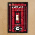 Georgia UGA Bulldogs NCAA College Art Glass Single Light Switch Plate Cover