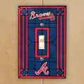 Atlanta Braves MLB Art Glass Single Light Switch Plate Cover
