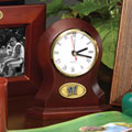 Milwaukee Brewers MLB Brown Desk Clock