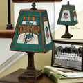Miami Dolphins NFL Art Glass Table Lamp