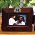 "Michigan Wolverines NCAA College 8"" x 10"" Brown Horizontal Picture Frame"