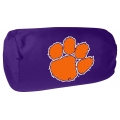 "Clemson Tigers NCAA College 14"" x 8"" Beaded Spandex Bolster Pillow"