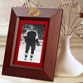 "Detroit Redwings NHL 10"" x 8"" Brown Vertical Picture Frame"
