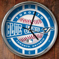 "Toronto Blue Jays MLB 12"" Chrome Wall Clock"