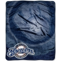 "Milwaukee Brewers MLB ""Retro"" Royal Plush Raschel Blanket 50"" x 60"""