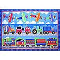"Trains, Planes & Trucks Rug (39"" x 58"")"