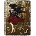 "Nene Thomas Flamenco Fairy 48"" x 60"" Metallic Tapestry Throw"
