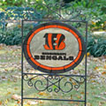 Cincinnati Bengals NFL Stained Glass Outdoor Yard Sign