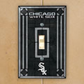 Chicago White Sox MLB Art Glass Single Light Switch Plate Cover