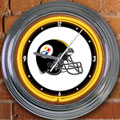 "Pittsburgh Steelers NFL 15"" Neon Wall Clock"