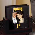 Pittsburgh Pirates MLB Art Glass Photo Frame Coaster Set