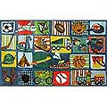 "Funky Boys Quilt Rug (39"" x 58"")"