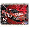 "Tony Stewart #14 Office Depot NASCAR ""Flash"" 48"" x 60"" Metallic Tapestry Throw"