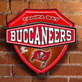 Tampa Bay Buccaneers NFL Neon Shield Wall Lamp