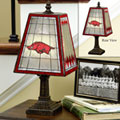 Arkansas Razorbacks NCAA College Art Glass Table Lamp