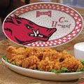 "Arkansas Razorbacks NCAA College 12"" Gameday Ceramic Oval Platter"