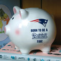 New England Patriots NFL Ceramic Piggy Bank