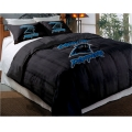 "Carolina Panthers NFL Twin Chenille Embroidered Comforter Set with 2 Shams 64"" x 86"""