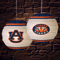 "Auburn Tigers NCAA College 18"" Rice Paper Lamp"