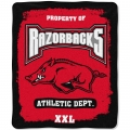 "Arkansas Razorbacks College ""Property of"" 50"" x 60"" Micro Raschel Throw"