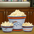 Denver Broncos NFL Melamine 3 Bowl Serving Set