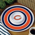 "Chicago Bears NFL 14"" Round Melamine Chip and Dip Bowl"