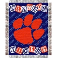 "Clemson Tigers NCAA College Baby 36"" x 46"" Triple Woven Jacquard Throw"