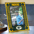 "Green Bay Packers NFL 9"" x 6.5"" Vertical Art-Glass Frame"