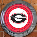 "Georgia UGA Bulldogs NCAA College 15"" Neon Wall Clock"