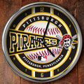 "Pittsburgh Pirates MLB 12"" Chrome Wall Clock"