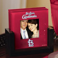 St. Louis Cardinals MLB Art Glass Photo Frame Coaster Set