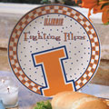"Illinois Illini NCAA College 11"" Gameday Ceramic Plate"