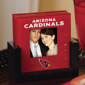 Arizona Cardinals NFL Art Glass Photo Frame Coaster Set