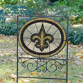 New Orleans Saints NFL Stained Glass Outdoor Yard Sign