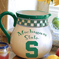 "Michigan State Spartans NCAA College 14"" Gameday Ceramic Chip and Dip Platter"