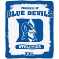 "Duke Blue Devils College ""Property of"" 50"" x 60"" Micro Raschel Throw"