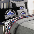 Colorado Rockies MLB Authentic Team Jersey Bedding Twin Size Comforter / Sheet Set