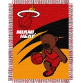 "Miami Heat NBA Baby 36"" x 46"" Triple Woven Jacquard Throw"