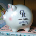 Colorado Rockies MLB Ceramic Piggy Bank