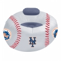 New York Mets MLB Vinyl Inflatable Chair w/ faux suede cushions