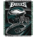 "Philadelphia Eagles NFL ""Spiral"" 48"" x 60"" Triple Woven Jacquard Throw"