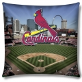 "St. Louis Cardinals MLB ""Stadium"" 18""x18"" Dye Sublimation Pillow"